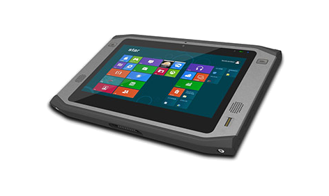 DLOG PWS 870 rugged tablet - right front view
